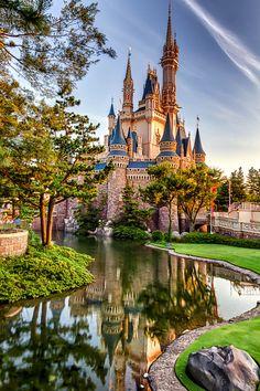 Cinderella's Castle, Tokyo Disneyland, Japan by  David Edenfield