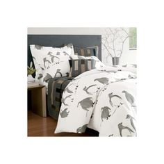 Kahla's mommy and daddy should get this for their bed :P  Penguin Parade Flannel Bedding - Compare Prices and Buy at PriceGrabber found on Polyvore