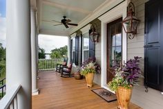 Inviting Porch (Wando View Home in Daniel Island, SC by JacksonBuilt Custom Homes)