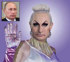 Líderes mundiales transformados en glamourosas drag queens