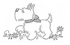 Scottie dog embroidery Patterns
