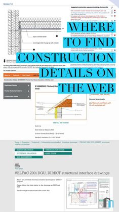 A great guide to help architecture students find good resources for construction details to use as precedent studies - architecture Section Drawing Architecture, Study Architecture, Cultural Architecture, Education Architecture, Residential Architecture, Architecture Details, Architecture Quotes, Architecture Colleges, Pavilion Architecture