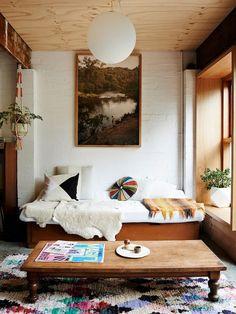 Hippie living room.