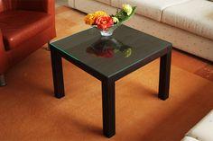 Lack Tisch von Ikea mit Glasplatte von New Swedish Design