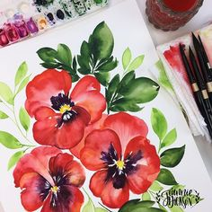 Jeannie Dickson (@honeybopsdesigns) | Instagram photos and videos Watercolor Projects, Watercolor Tips, Watercolor Cards, Watercolor Landscape, Watercolor Print, Watercolor Illustration, Watercolour Painting, Watercolor Flowers, Watercolors