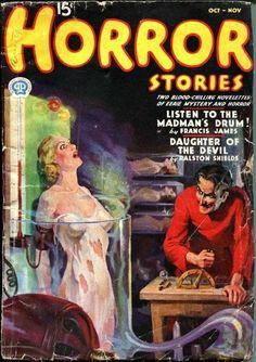 Horror Stories Magazine - Listen to the Madman's Drum Pulp Fiction Magazine Cover
