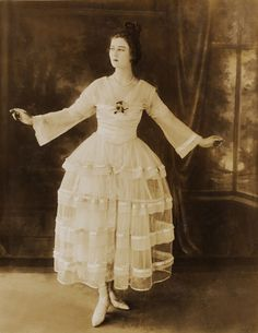 """kittyinva:  1915 Lucile design """"Youth"""" designed for and worn by dancer Florence Walton."""