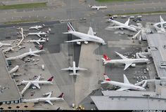 JFK International Terminal,   Giant Airbus A380-861 in the center.   Photographer Sam Chui. More at : http://www.samchuiphotos.com