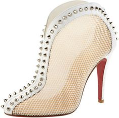 ShopStyle: Christian Louboutin Bourriche Studded Red Sole Ankle Boot