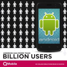 Android has more than a billion users in more than 190 countries around the world.  Did you know that every day another million user s power up their Android devices for the first time? ‪#‎Facts