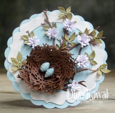 birds nest made w/wreath die cut Mama Dini's Stamperia: Impression Obsession DT Challenge: Nature Inspired Scrapbook Paper Crafts, Scrapbook Cards, Scrapbooking Ideas, Card Making Designs, Twig Wreath, Shabby, Quilling Paper Craft, Impression Obsession, Paper Birds