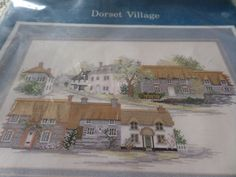Cross stitch kit complete kit Dorset Village by MaddisonsRainbow Cross Stitch Kits, Cross Stitch Patterns, Dorset Cottages, Handmade Crafts, Projects, Count, Scene, Painting, Street