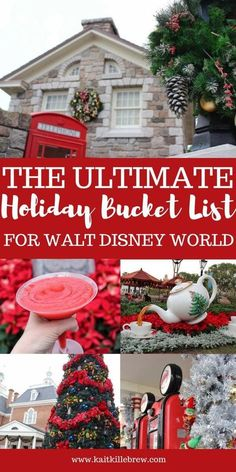 Ultimate Walt Disney World Holiday Bucket List Best tips for traveling to Disney during the holidays!Best tips for traveling to Disney during the holidays! Disney Resorts, Walt Disney World Vacations, Disney Parks, Disney Travel, Disney Bound, Family Vacations, Top Vacations, Disney College, Dream Vacations