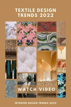 Textiles, Color Trends, Design Trends, Textile Design, Home Textile, Trend Fabrics, New Interior Design, Home Trends, Surface Pattern Design