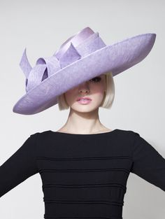 Dillon Wallwork - Lavender sinamay large cuff brim trimmed with sinamay twist. #passion4hats