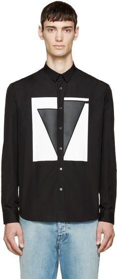McQ Alexander McQueen - Black Geometric Shirt