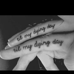 Couple Ring Finger Tattoos