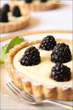lemon blackberry tart