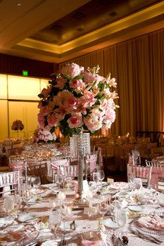 Wedding, Flowers, Reception, Centerpiece, Crystal, Laura davis events