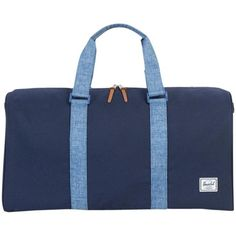 Herschel Supply Co. Ravine Holdall ($78) ❤ liked on Polyvore featuring bags, luggage and blue