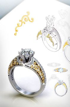 Looking for a Custom Engagement Ring? Let our Jewelry Consultants assist you in Designing the custom engagement ring of your dreams. Why settle for less. Diamond Engagement Rings Uk, Luxury Engagement Rings, Designer Engagement Rings, Diamond Rings, Gold Rings, Custom Wedding Rings, Wedding Ring Designs, Ring Sketch, Silver Nose Ring
