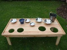 super idee um sich selber einen matschtisch zu bauen und. Black Bedroom Furniture Sets. Home Design Ideas