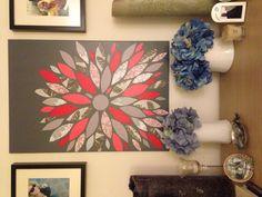 Flower burst wall art- CFHandmadeHomeGoods Etsy
