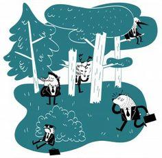Imagen por Dani Blanc: Los lunes nos pesan a todos... pues imagínate a los del bosque...