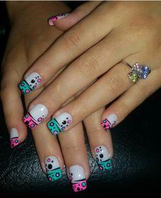 Nail Stamping, Pedicure, Nail Art Designs, Dots, Triangles, Nails, Beauty, Finger Nails, Decorations