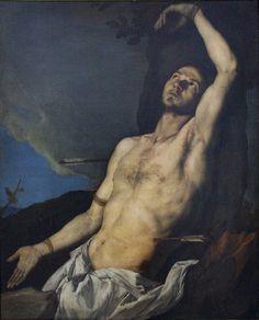 José de Ribera [Jusepe de Ribera] (Spanish, 1591-1652), St. Sebastian, Naples, 1651. Oil on canvas, 121 x 100 cm. Museo di San Martino, Naples.