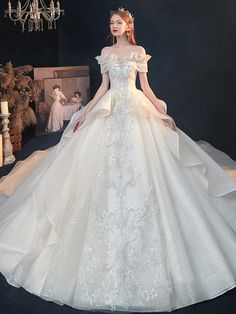 Affordable Wedding Dresses, Wedding Dresses For Sale, Wedding Dress Shopping, Princess Wedding Dresses, Tulle Wedding, Princess Bridal, Princess Ball Gowns, Gown Wedding, Pretty Dresses