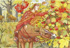 Guelder-rose. by Nikkolainen on DeviantArt (Калина)
