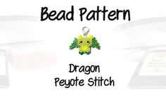 Dragon Peyote Stitch Pattern Delica Seed Beads  by BeadCrumbs