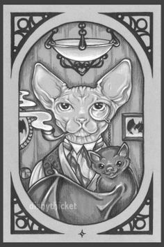 art sphinx ☆ Cat art sphinx