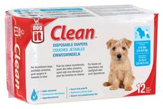 Dogit Disposable Diapers, Small, 12-Pack -- Discover this special dog product, click the image : Dog Litter and Housebreaking
