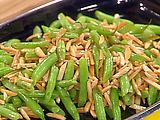 Picture of French Cut Green Beans with Almonds and Fried Onions Recipe