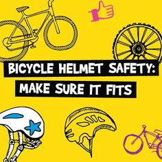 Make sure your child always wears a properly fitted helmet! Remember the 2V1 shake, shake, shake rule!