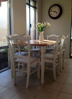 My very own shabby chic dining table and chairs :)