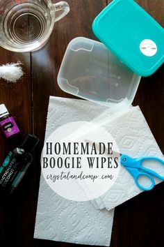 I love when I can make things at home and control the ingredients that go into the things I am using on my kids.  With snotty nose season here, boogie wipes fo