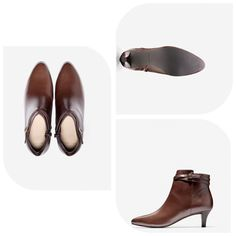 New Womens Cole Haan Elinor Short Boot Style  Original Retail Price $278.00 Now only $125.00 when you purchase through #CaliLoveRetailer!! ·         Authentic Cole Haan ·         Smooth leather upper. ·         Leather strap and decorative buckle detail. ·         Inner side zipper. ·         Fully lined. ·         Fully padded sock lining. ·         Full rubber outsole for ultimate comfort and functionality. ·         55mm | 2.25 inch heel.  ·         Color Chestnut  ·         Size 8 M