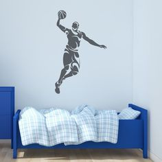 Abstract Basketball Player Wall Decal (Pastel Orange - x Sports Wall Decals, Name Wall Decals, Vinyl Wall Decals, Wall Stickers, Basketball Wall, Basketball Players, Yellow And Brown, Green And Grey, Golden Yellow