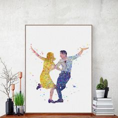 En güzel dekorasyon paylaşımları için Kadinika.com #kadinika #dekorasyon #decoration #woman #women Freeshipping Watercolor La La Land Canvas A4 Art Print Poster Oscar Lover Movie Dance Wall Pictures Modern Home Decor Big Paintings No Frame by TheMildArt