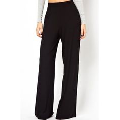 Casual Style High Waist Solid Color Waisted Corset Wide Leg Women's Pants but I'm sure is only cute with long legs