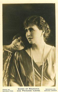 Princess Ileana of Romania Gallery / Queen of Roumania and Princess Ileane (Ileana) Postcard