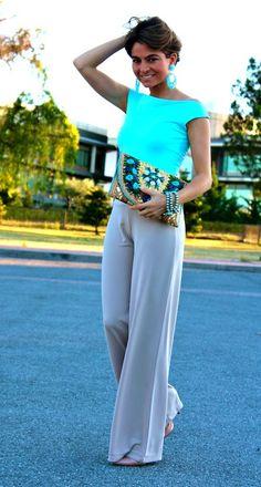 Baby Blue ( Silk Tanks & Silk Pants )