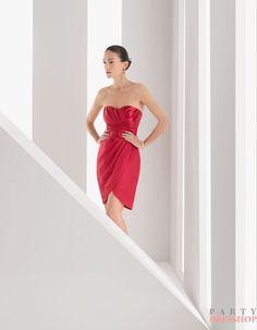 www.balllily.com $109 Green/Red Satin   Rosa Clara Cocktail Dresses MRSD007