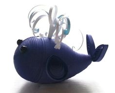 Baby Whale Ornament  Paper Quilled Whale in by WintergreenDesign, $18.00