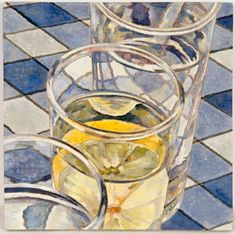 Glasses of water with lemon 2009 Watercolour paint on plywood 20 x Cressida Campbell is an artist worth knowing about (and admiring) if you love detailed artworks which blur the line between truth and fiction. Still Life Painting, Watercolor Art, Australian Artists, Art Inspo, Australian Art, Graphic Illustration, Painting, Art, Woodcut