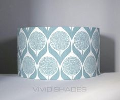 Lampshade Scandi fabric handmade by vivid shades funky retro