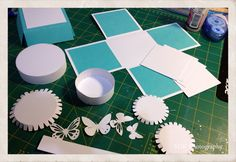 With a lttle help from Photoshop and the Silhouette program I created a cut file for the cake layers. I had the tabs for gluing on the circular pieces of ...